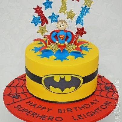 Superman exploding cake