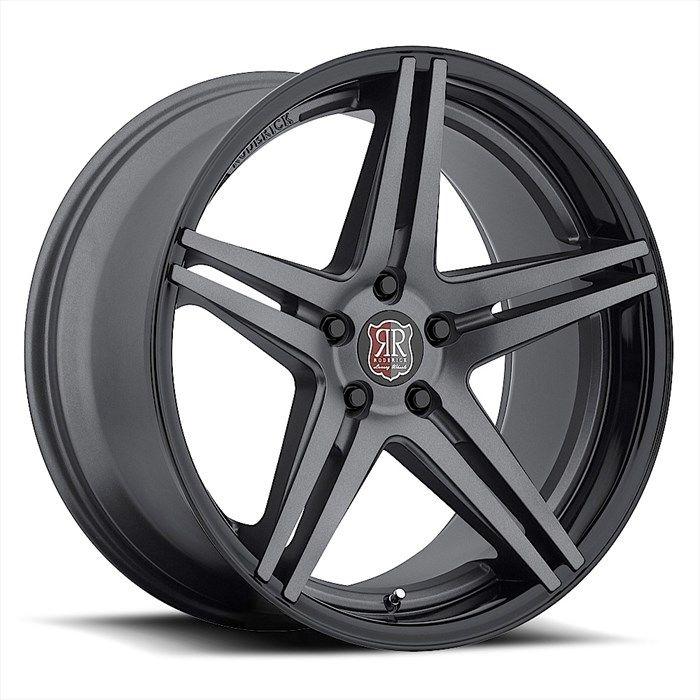 GetYourWheels.com: Roderick Wheels Roderick RW-7 Gunmetal w/ Black Lip Wheels : Wheel and Tire Packages|Staggered Wheels|Custom Wheels|Luxury Rims