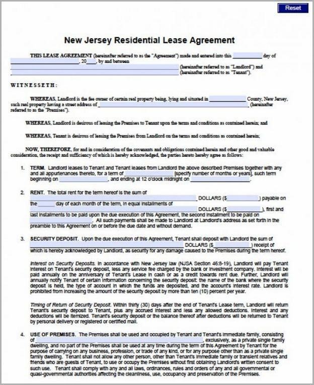 62 Reference Of Blank Lease Agreement Nj In 2020 Lease Agreement Lease Agreement