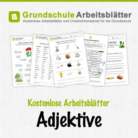 Kostenlose Arbeitsblätter und Unterrichtsmaterial für den Deutsch-Unterricht zum Thema Adjektive in der Grundschule.