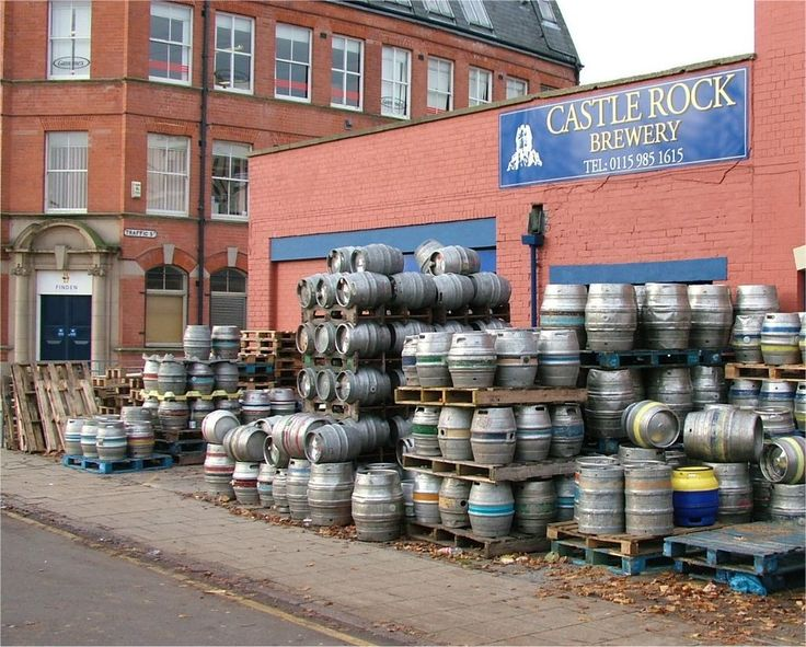 stainless steel beer barrels - to avoid rusticism in favor of soviet industrialism