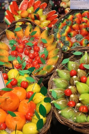 Marzipan! These look too good to eat! Find them on the main street of Taormina.