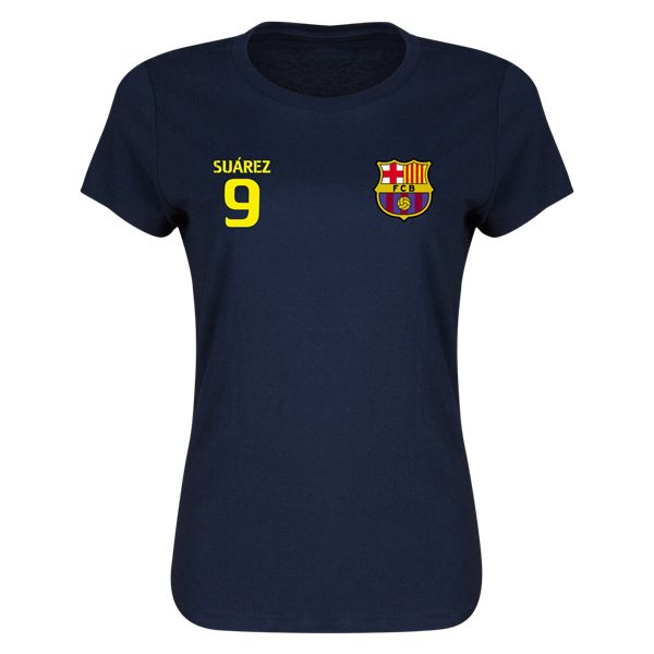 Suarez FC Barcelona Right Chest Number Womens T-Shirt