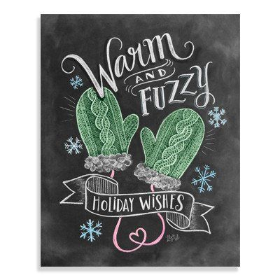 Warm & Fuzzy Holiday Wishes - Print #Gifts #Holiday #Print