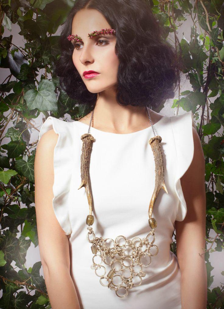styling, make-up, jewelry, Eva Susanska, antlers