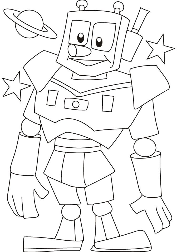 Robot Explorers Coloring Pages