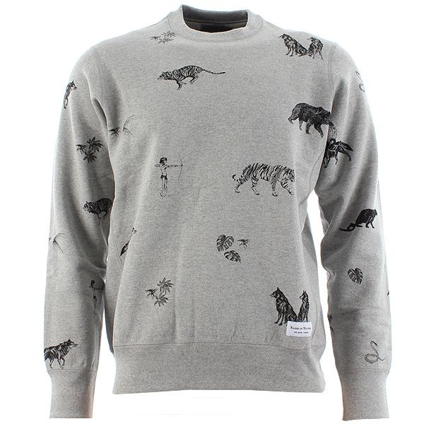 Raised By Wolves Jungle Book inspired Crewneck Sweatshirt. Pattern by #arrangregory