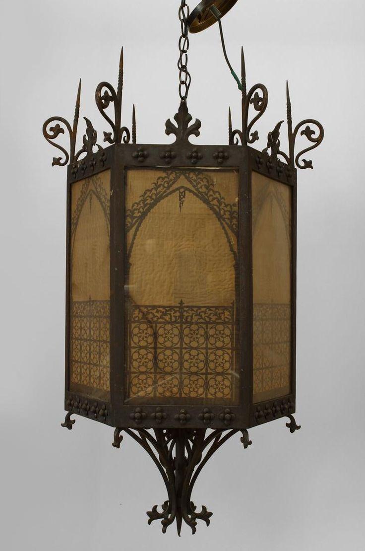 Italian Renaissance Lighting Lantern Wrought Iron