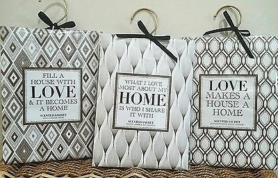 3  x Large Fragranced Quote Sachet Hanging Wardrobe housewarming gift idea spicy