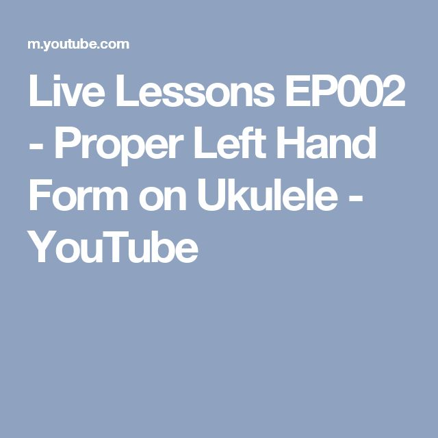 how to play ukulele left handed