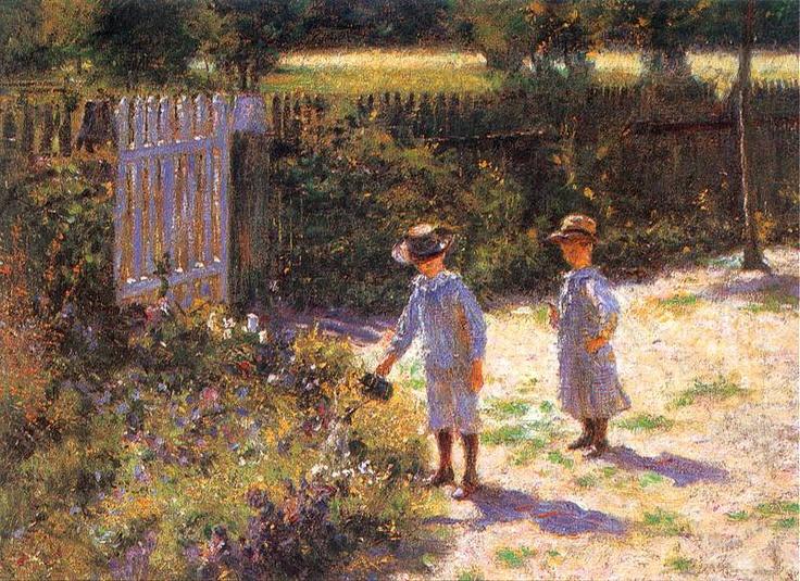 Wladyslaw Podkowinski - Children in a garden (Dzieci w ogrodzie)  1892