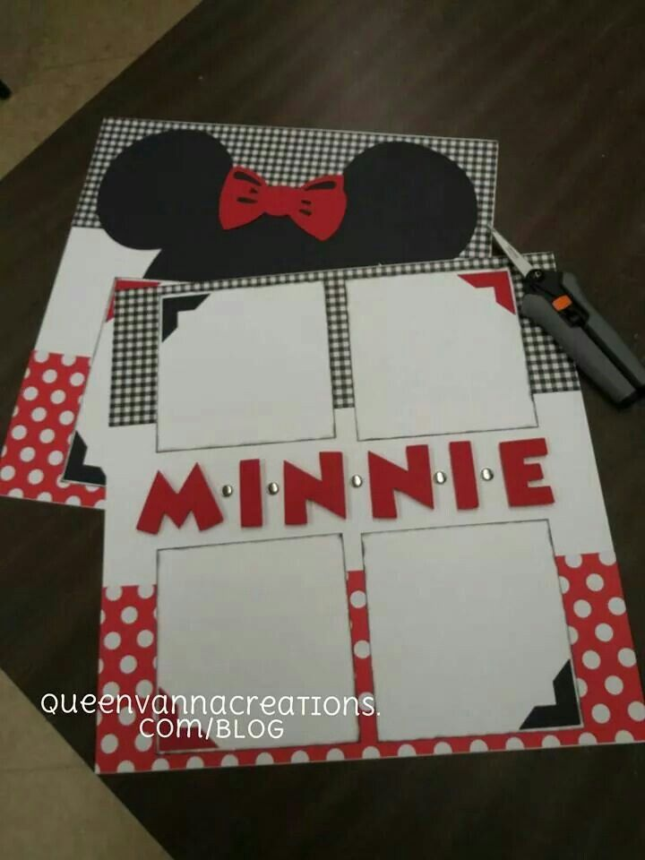 Disney Scrapbook Layout Idea - Minnie Mouse