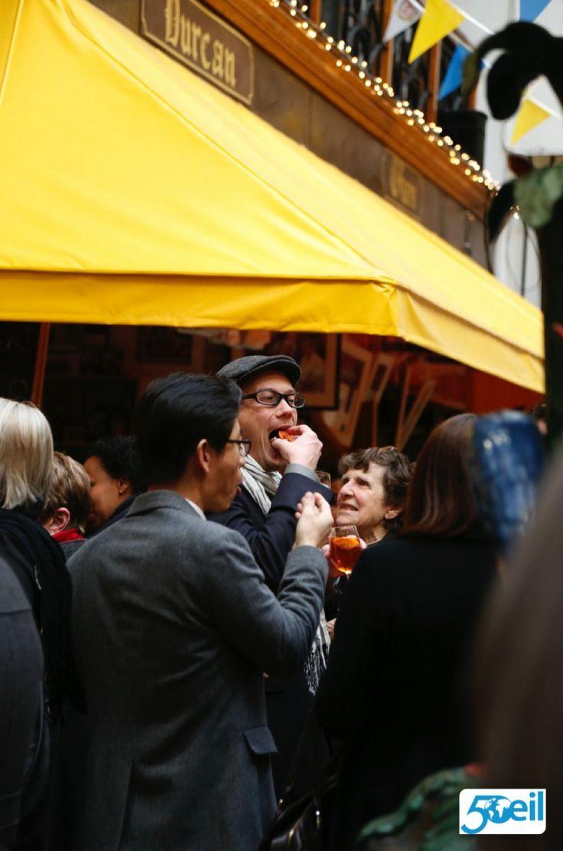 Delegates enjoying the food at the English Market #EILGA2014