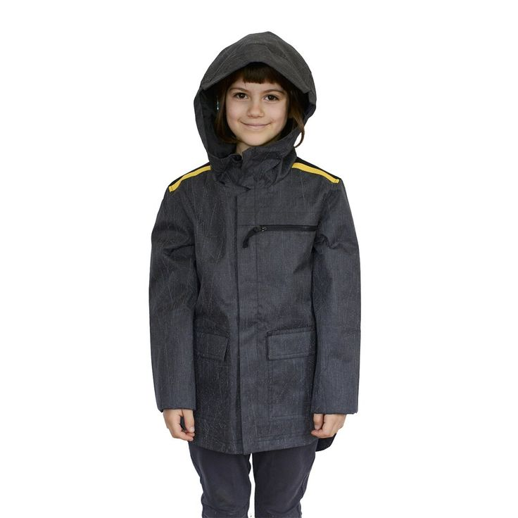 Kids jacket with high tech reflective material for ultimate visibility. Sophisticated, hip length, hooded rain jacket. Play Hard / Be Seen with Zapped Outfitters.