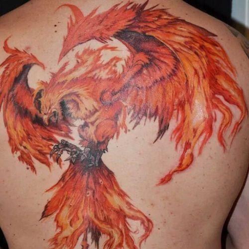 Phoenix tattoos meaning 45 phoenix bird tattoo ideas for Phoenix neck tattoo