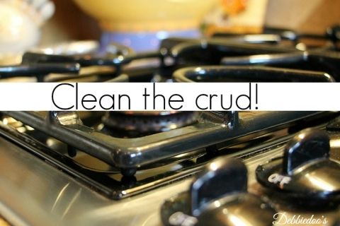 How to clean stove grates - Debbiedoos