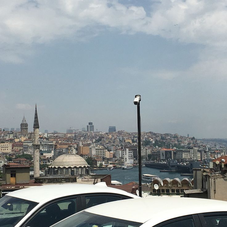 View of Istanbul from top level of Parking Lot