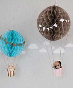 Für's Kinderzimmer: Heißluftballon-Deko! Mehr im