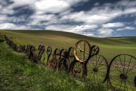 Have a look at this fence built with antique bicycle wheels, it has a lot of character and could you imagine how many stories are behind each set of wheels? #throwbackthursday #fencing #recycling