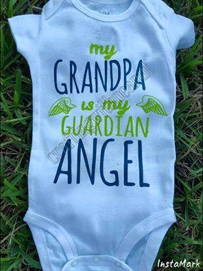my grandpa is my guardian angel onesie by craftingwithpeanut