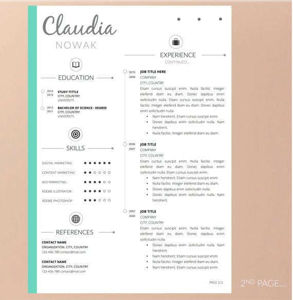 15 best Resume images on Pinterest Resume, Resume design and - resume that stands out