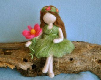 Green Leaf Fairy Baby paarse hoed Waldorf van gingerlittle op Etsy