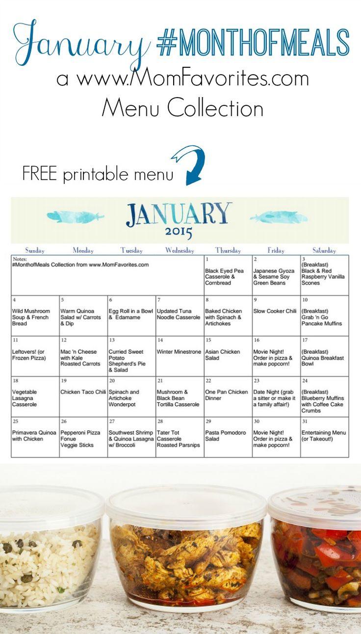 january 2015 momfavorites com monthly menu