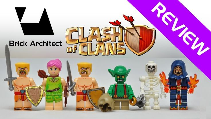 Lego Clash of Clans COC Minifigures Review and Stop Motion Build