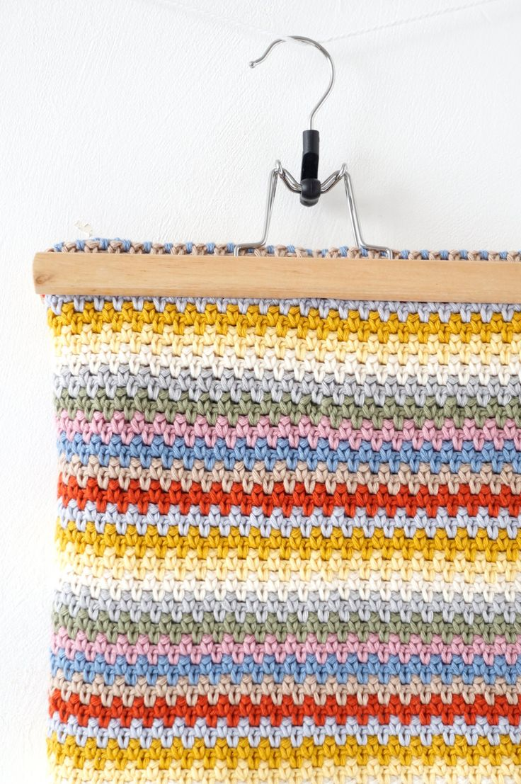 baby blanket crochet pattern striped throw by LittleDoolally