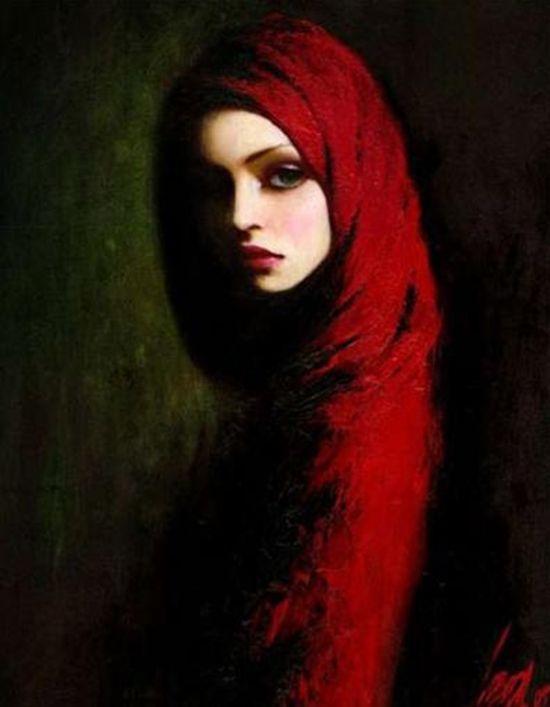 Taras Loboda art / She looks like a Biblical character.