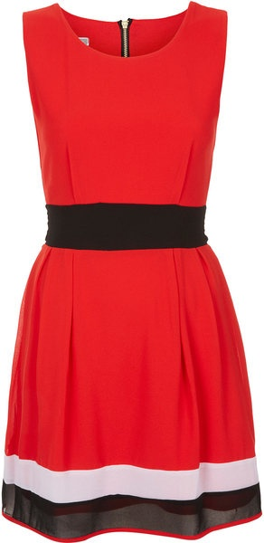 Topshop Color Block Dress  in Red (cherry) - Lyst: Topshop Colors, Colors Blocks