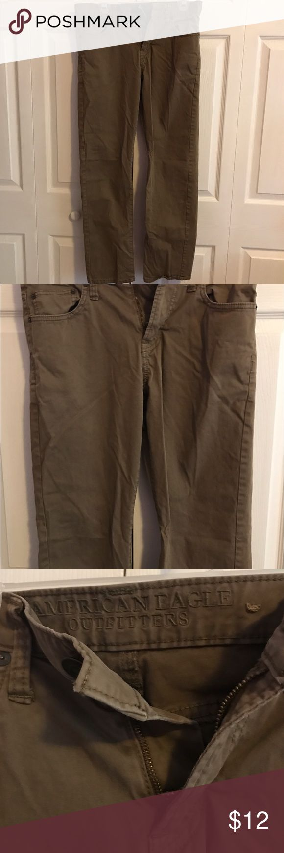 AE Mens Khaki Pants Perfect condition, slim straight style American Eagle Outfitters Pants Chinos & Khakis