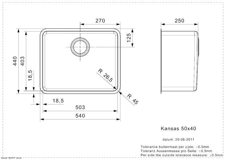 KANSAS 50x40 (L) vlakbouw - RVS spoelbakken - Spoelbakken - Reginox: de kroon op uw keuken!