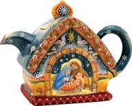 Teapot Nativity scene