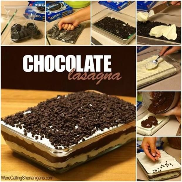 DIY Chocolate Lasagna | UsefulDIY.com Follow Us on Facebook == http://www.facebook.com/UsefulDiy