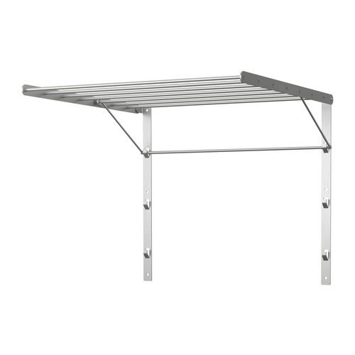 GRUNDTAL Drying rack, wall, stainless steel stainless steel 56x54 cm Ikea £20