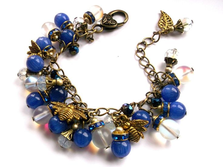 Blue cateye cha cha bracelet