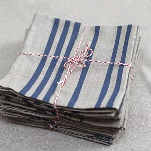 French Stripes - Linen Napkins - hardtofind.