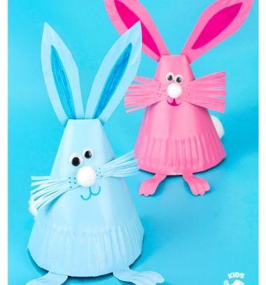 Adorable paper plate bunny craft - easy Easter craft for kids // Papír tányér kúp nyuszik - egyszerű húsvéti kreatív ötlet gyerekeknek // Mindy - craft tutorial collection // #crafts #DIY #craftTutorial #tutorial
