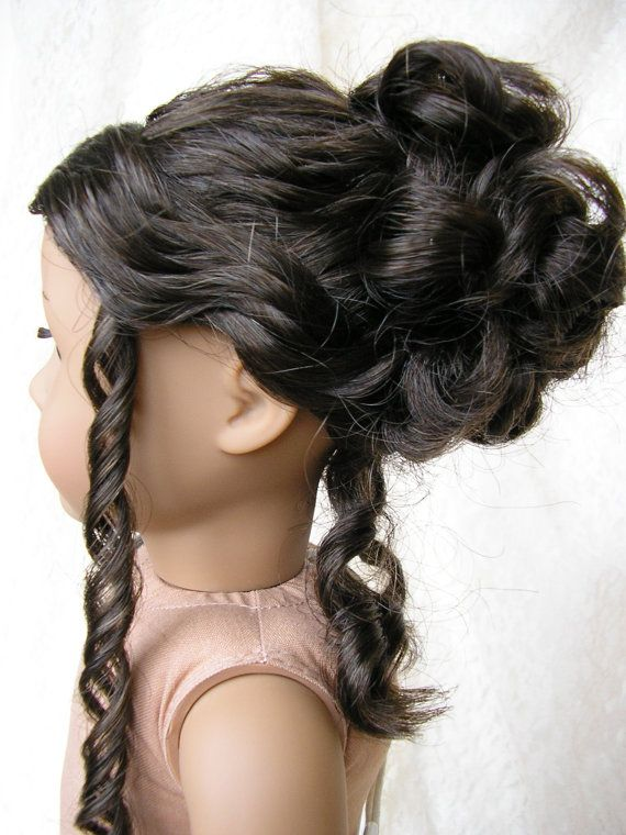 American Girl doll seamstress model with hair done by dolltimes