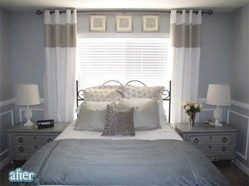 bedroom ideas with head of bed at window - Google Search