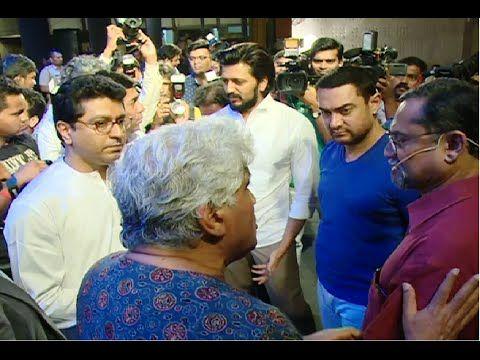 WATCH Aamir Khan meets Raj Thackeray to discuss Mumbai's controversial development plan. See the video at : http://youtu.be/dIH5b850_fw #aamirkhan #rajthackeray