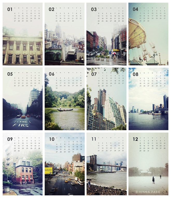 2013 A Year of NY Calendar - Photography Calendar - NYC Calendar for Sandy Relief. $24.00, via Etsy.