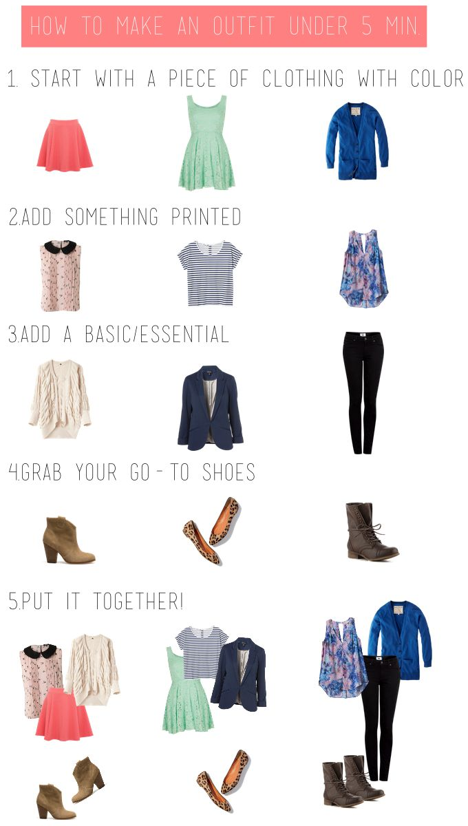 5 Steps to Making an Outfit under 5 Minutes