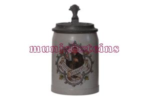 Very rare Munich Brewery Stein. see whats new. Kloster-Bräu Munich Brewery Beer Stein 0.4L : ca. 1900  (item 51.041)