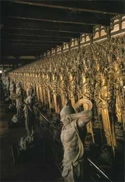 1001 carved statues of the Buddhist God of Mercy, each with a unique faceKYOTO