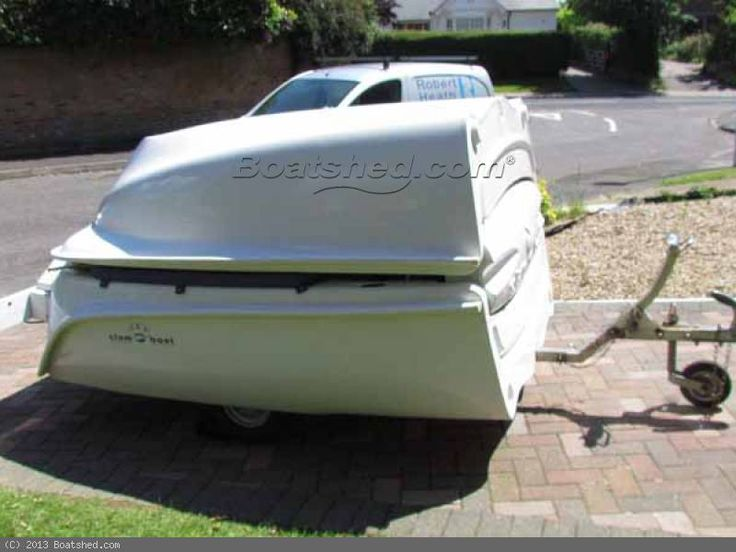 Clamboat MK11 Folding boat with inbuilt trailer Boats | Narrowboat Love | Pinterest | Boats and ...