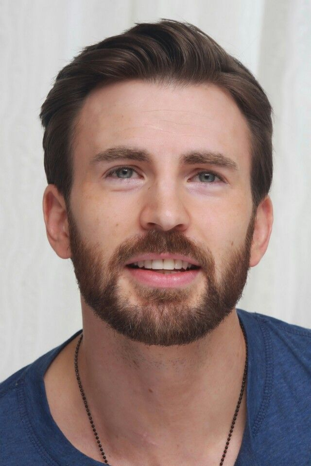 Chris Evans in the Blue Henley of Doom aka the Captain America: The Winter Soldier Press Tour Portraits 2014