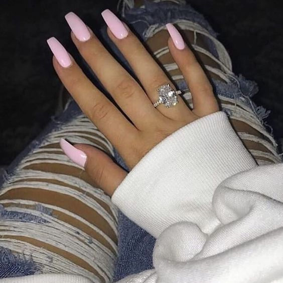 60 Gorgeous Coffin Acrylic Nails You Will Like - Short acrylic nails coffin - #acrylic #coffin #Gorgeous #nails #Short #Shortacrylicnailscoffin