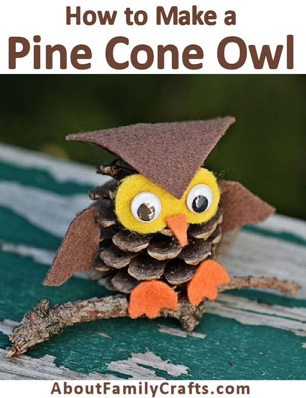 How to Make a Pine Cone Owl - Check out this fun and easy pine cone craft! Who…